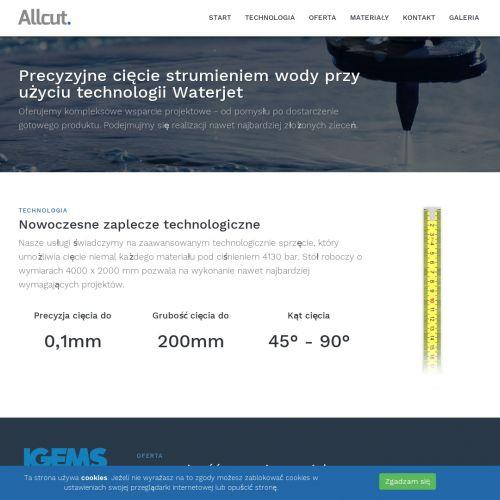 Wycinanie wzorów wodą Warszawa