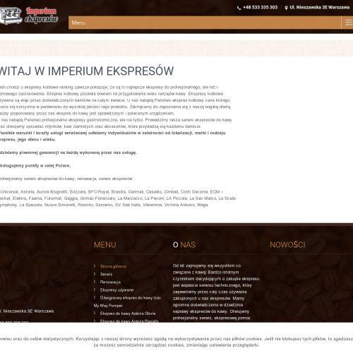 Dzierżawa ekspresów w Warszawie