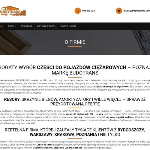 Kraków - części tir śląsk