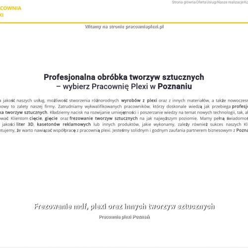 Poznań - frezowanie tworzyw sztucznych