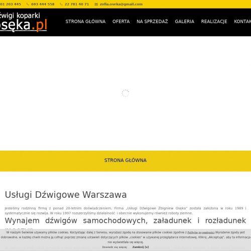 Warszawa - wynajem minikoparki