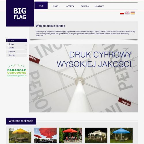 Parasole reklamowe duże - Ostrów Wielkopolski