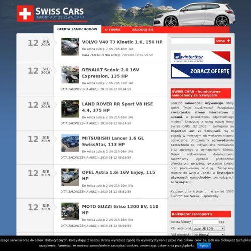 Szwajcaria samochody