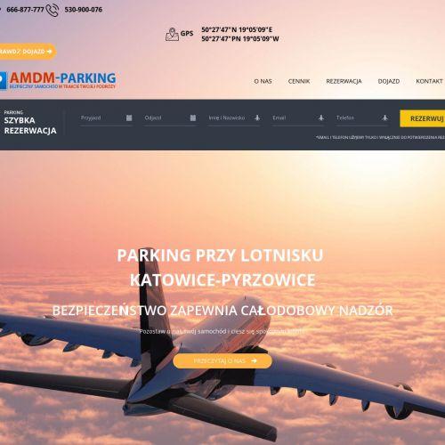 Parking z dowozem na lotnisko pyrzowice w Katowicach