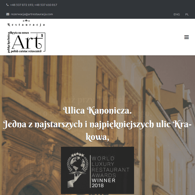 Restauracja z muzyką na żywo w Krakowie