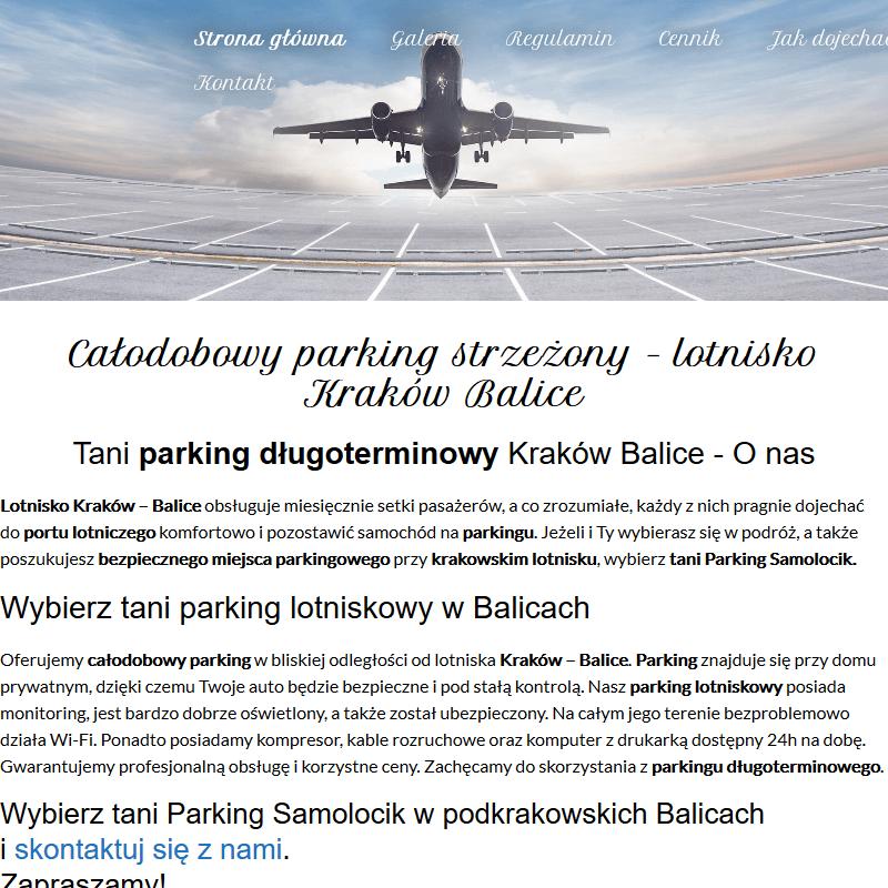 Kraków - parking balice