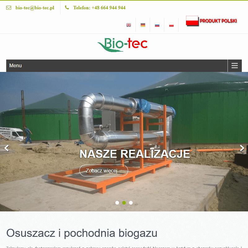 Urządzenia do obróbki biogazu