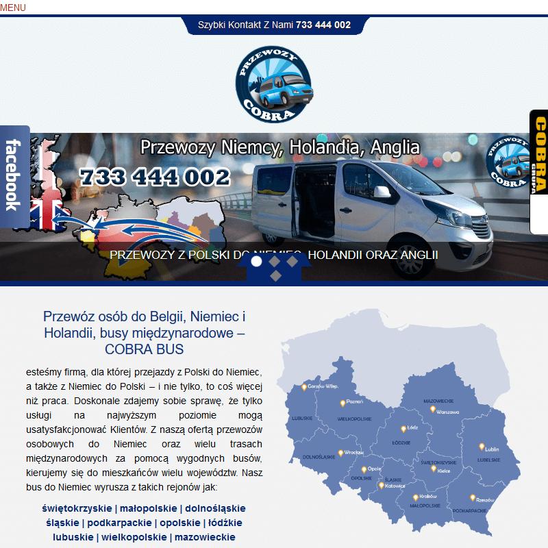 Przewóz osób do niemiec łódzkie w Krakowie