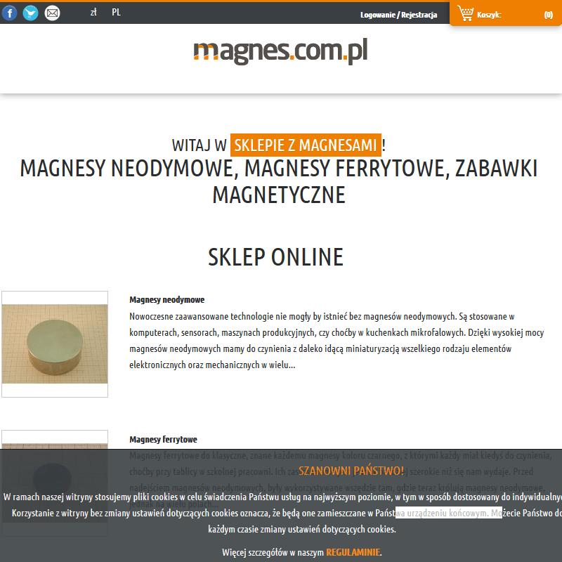 Warszawa - magnes trwały
