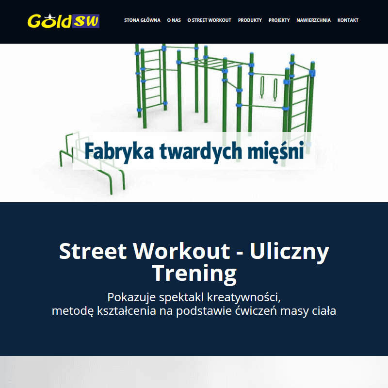 Projekt placu street workout