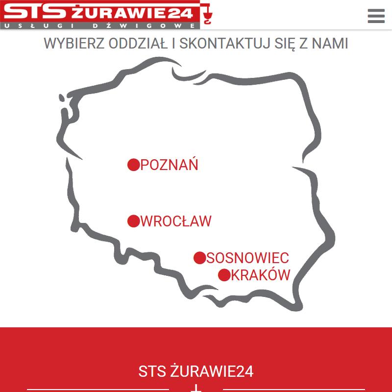 Żurawie samochodowe wynajem - Wrocław